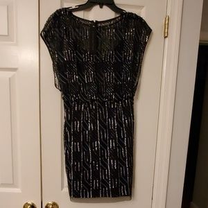 Aidan Mattox Black Blouson Dress -Size 6